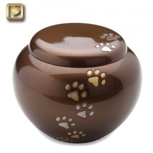 Small Bronze Cuddle Pet Cremation Urns