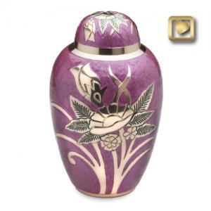 Adult Lilac Rose Cremation Urn