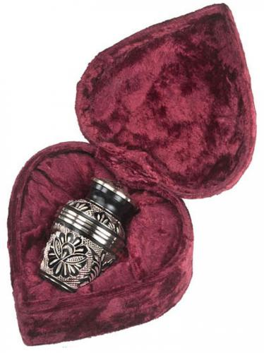 BlackGold with Rings Keepsake Cremation Urn