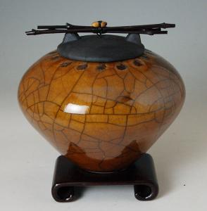 Atsuko Raku Ceramic Cremation Urn