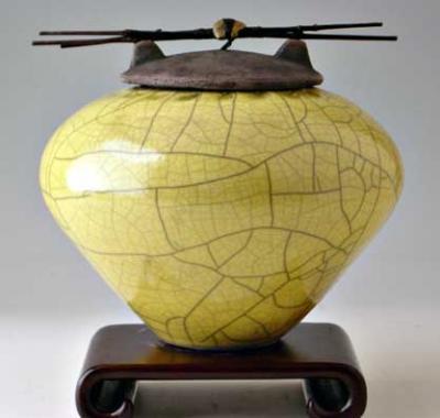 Youta Raku Ceramic Cremation Urn