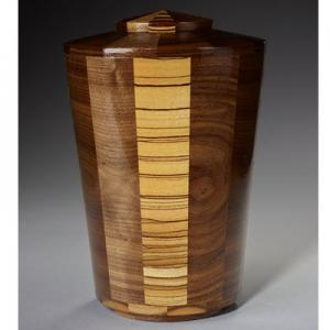 Zebrawood and Black Walnut Wood Cremation
