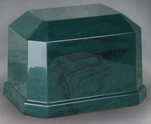 Navarro Green Cultured Marble Cremation Urn