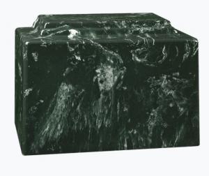 York Green Cultured Marble Cremation Urn