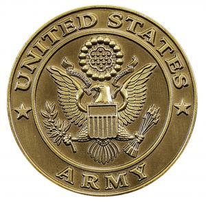 Army Bronze Medallion Urn Applique