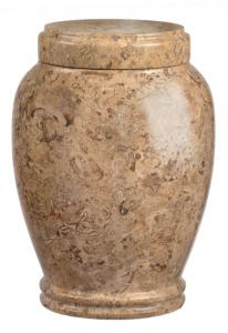 Medium Size Traditional Earth Marble Cremation Urn