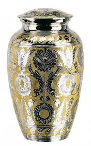Adult Classic SilverGold Cremation Urn
