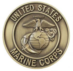 USMC Bronze Medallion Urn Applique