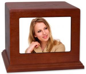 Horizontal Photo Wood Cremation Urn