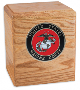 Freedom Military Oak Cremation Urn