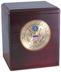 Freedom Military Rosewood Cremation Urn