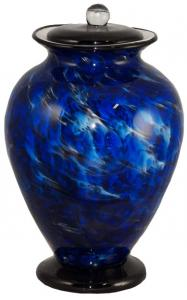 Blue Glass Adult Cremation Urn