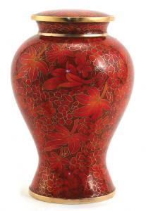 Etienne Autumn Leaves Cloisonne Cremation Urn Large