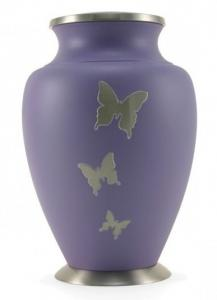 Aria Butterfly Purple Cremation Urn