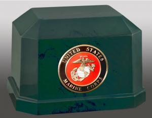 Navarro USMC Cultured Marble Cremation Urn
