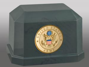 Navarro Army Cultured Marble Cremation Urn