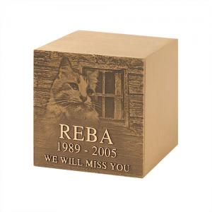 Bronze Lasting Memories Portrait Pet Urn