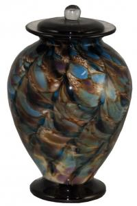 Glass Evening Colors Adult Cremation Urn