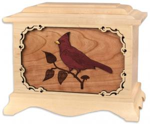 Cardinal Solid Wood Cremation Urn