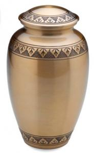 Brass Etched Leaf Cremation Urn