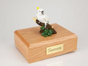 Cockatoo Parrot Wood Cremation Urn