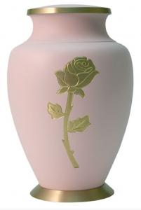Gold Rose Brass Cremation Urn