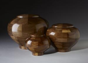 Black Walnut Wood Cremation Urn