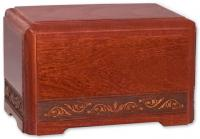 Small Majesty Cherry Hardwood Cremation Urn