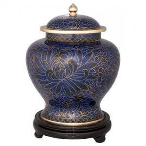 Royal Blue Adult Cloisonne Urn