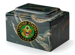 Army Camo Cultured Marble Urn Vault