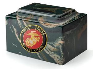 USMC Camo Cultured Marble Urn Vault