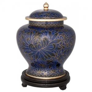 Royal Blue Companion Cloisonne Urn