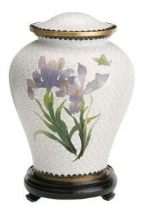 Iris Flower Companion Cloisonne Cremation Urn