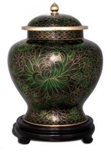 Jade Cloisonne Companion Cremation Urn