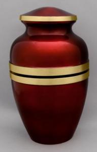 Scarlet Banded Cremation Urn