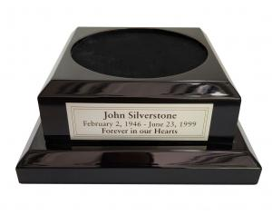 Wood Base for Urns - Black Piano Finish