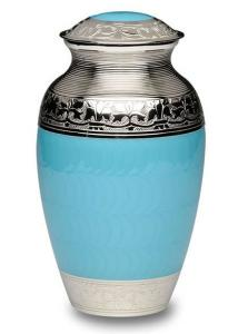Blue Nickel Plated Cremation Urn