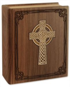 Celtic Cross Bible Cremation Urn