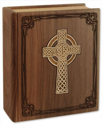 Celtic Cross Bible Cremation Urn