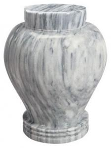 Silver Cloud Marble Cremation Urn