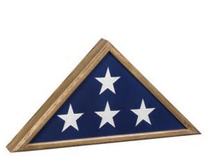 Veteran Hardwood Flag Case in Oak