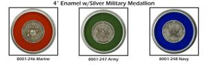 Enamel Military Medallions