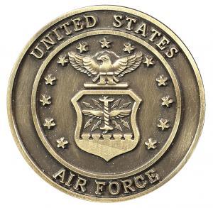 Air Force Bronze Medallion Urn Applique