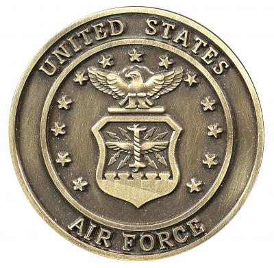 Air Force Bronze Medallion Urn Applique