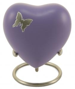 Aria Butterfly Brass Heart Keepsake Urn