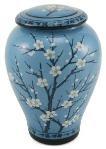 Plum Blossom Ceramic Adult Cremation Urn