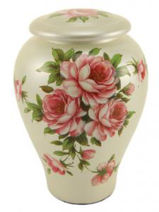 Rose Bouquet Ceramic Adult Cremation Urn