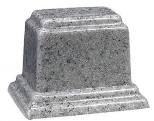 Small Rectangle Cultured Granite Keepsake Urn