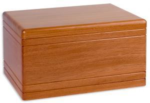 Small Mahogany Boxwood Cremation Urn