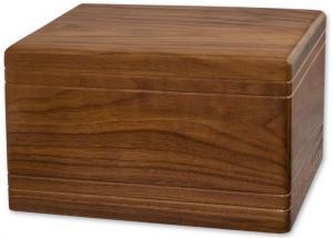 Small Walnut BoxwoodCremation Urn